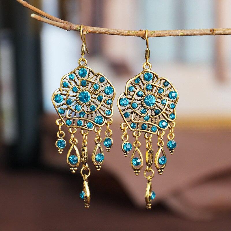 Boho-boucles-d-oreilles-gitanes-indiennes-pampilles-bijoux-Orecchini-pour-femmes-style-r-tro-fleurs-Jhumka