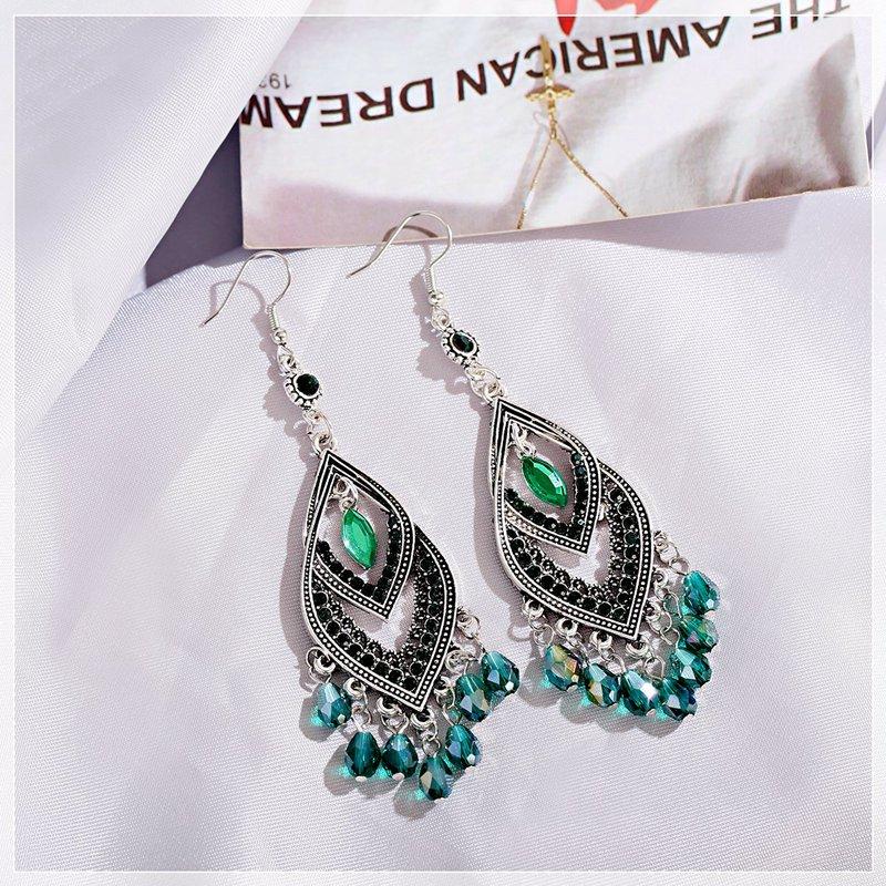 Boucles d\'oreilles en perles pendantes en forme losange