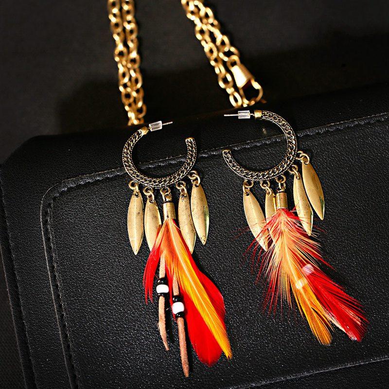 Boucles d\'oreilles tribales Amérindiens