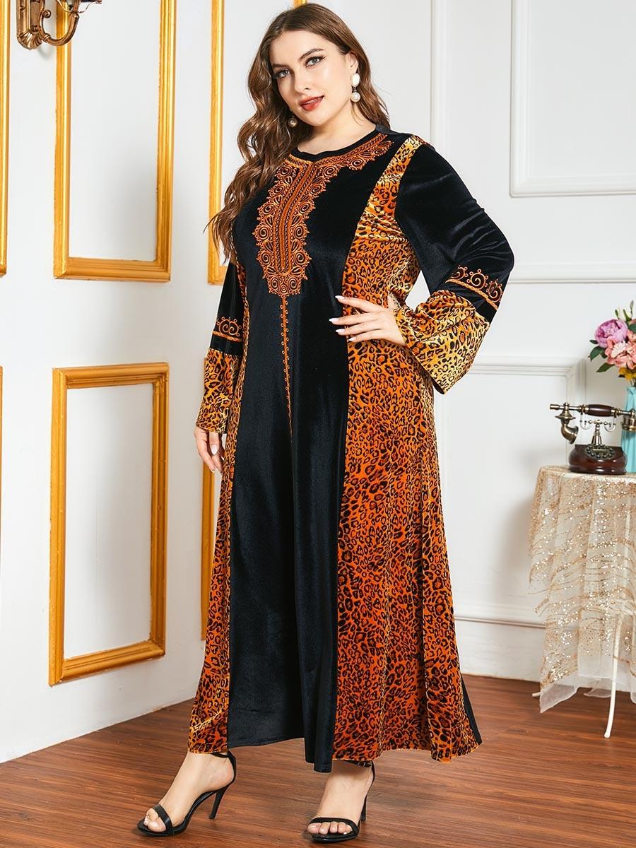 Robe marocaine imprimée tigrée