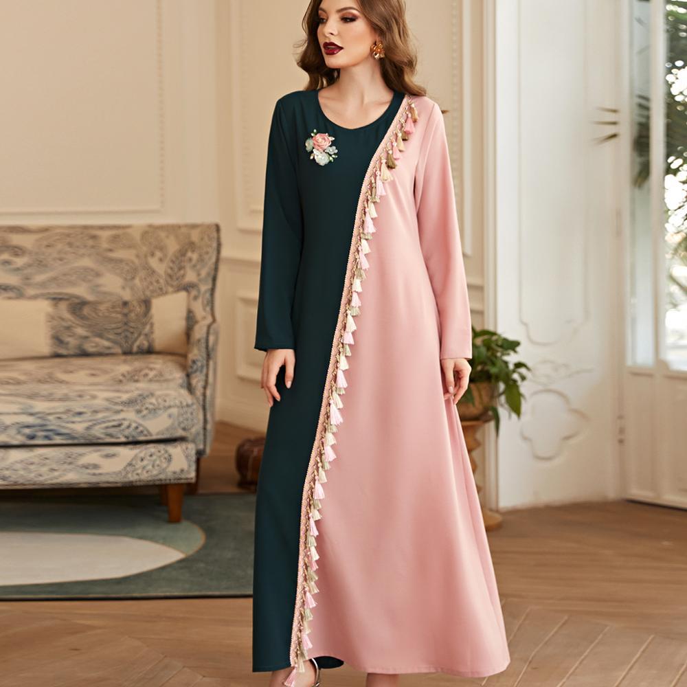 Robe caftan asymétrique moderne