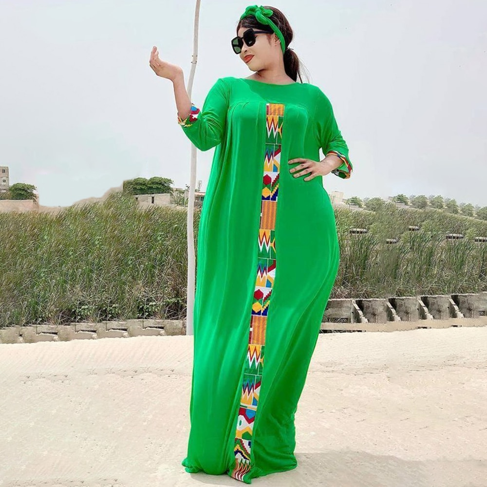 Robe maxi traditionnelle africaine