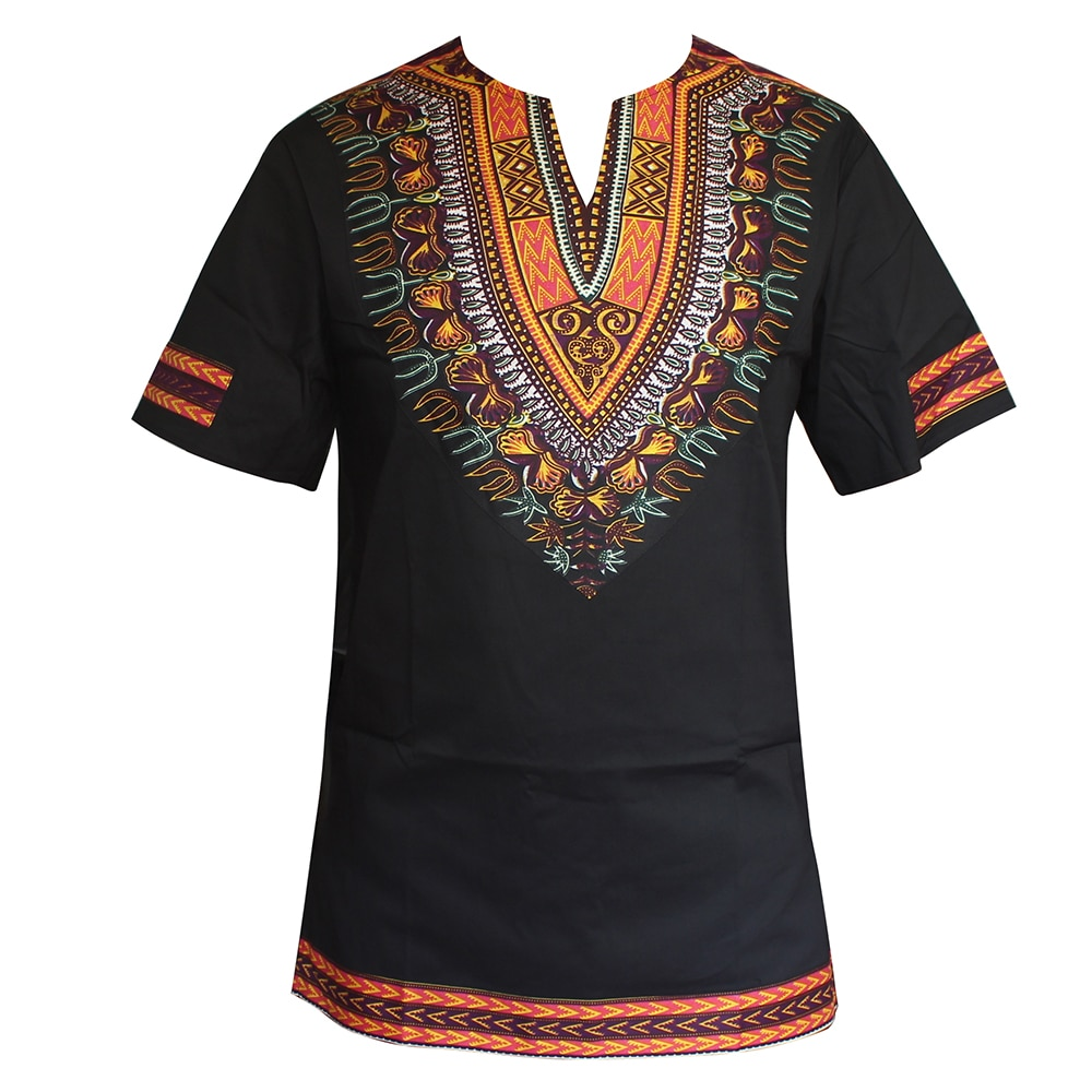 T-shirt ethnique impression en cire dashiki