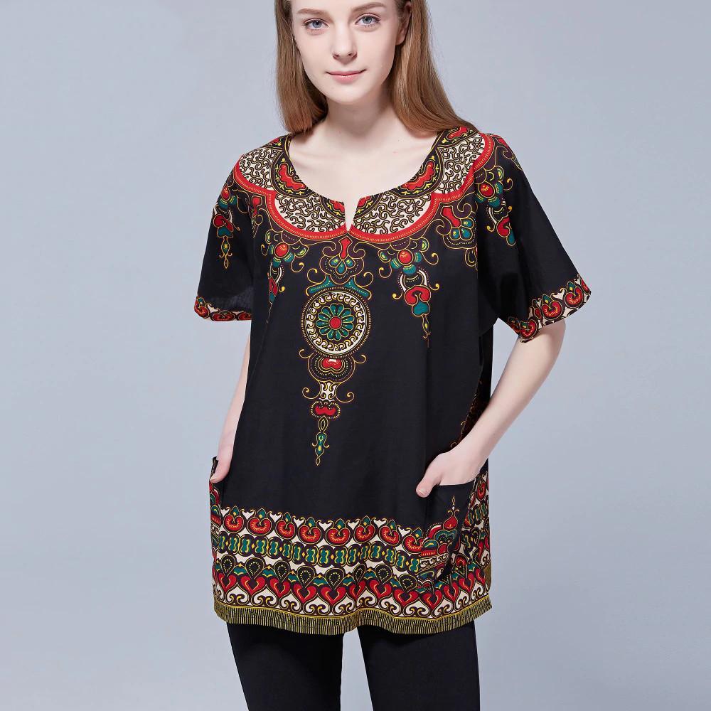 T-shirt africain Dashiki