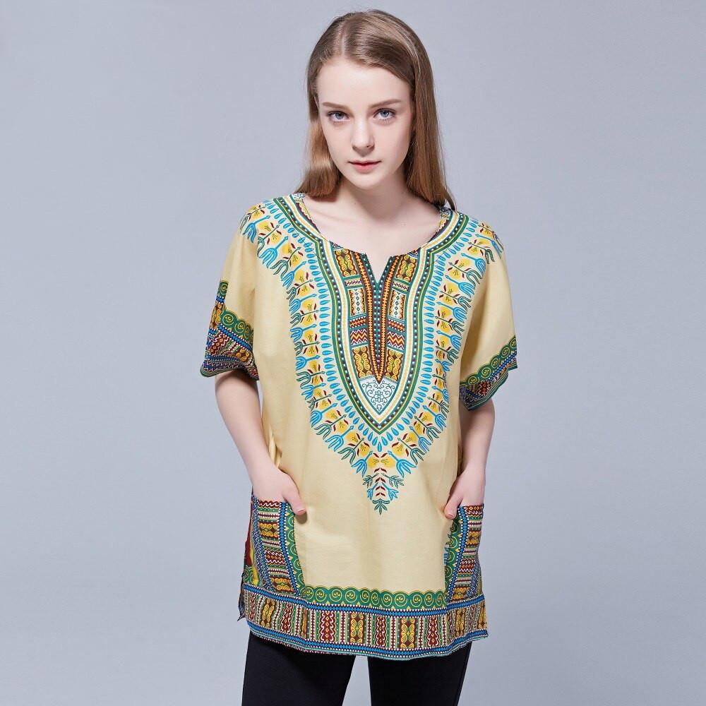 T-shirt africain vintage tribal avec dashiki 2021
