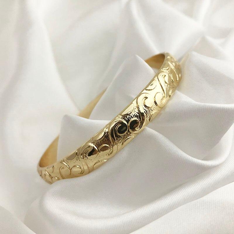 Bracelet Dubaï sculpté motifs arabesque