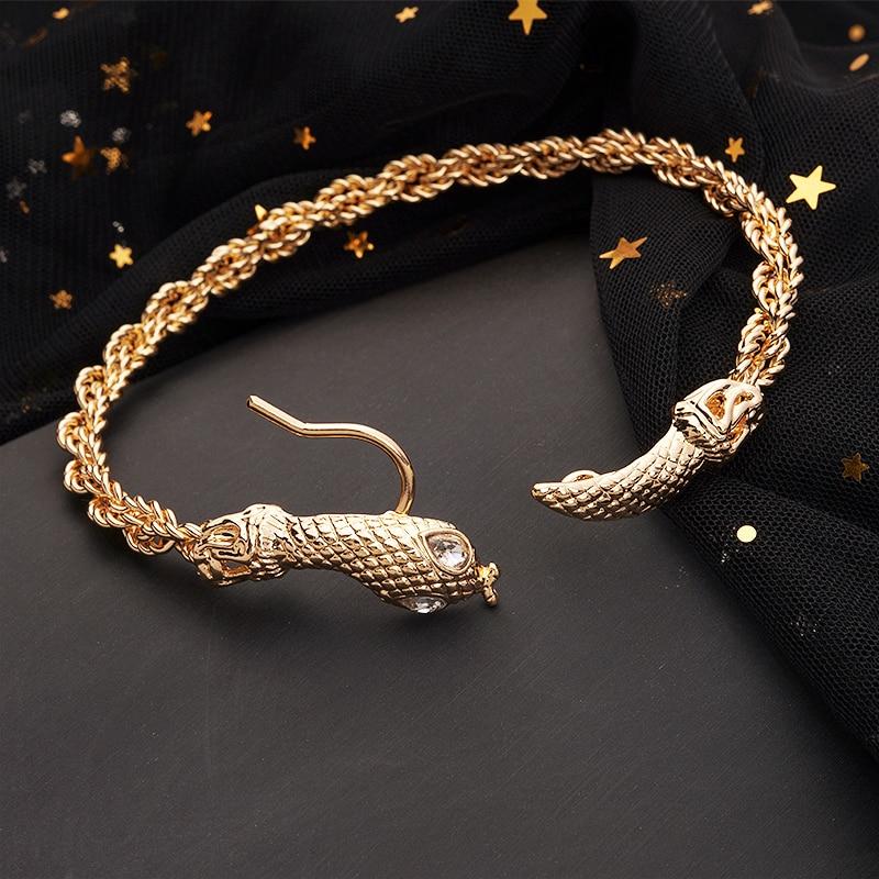 Bracelet de cheville en forme de serpent