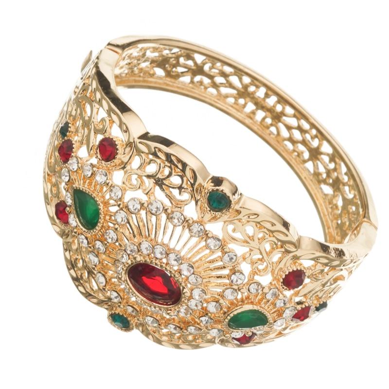 Bracelet manchette arabe avec strass