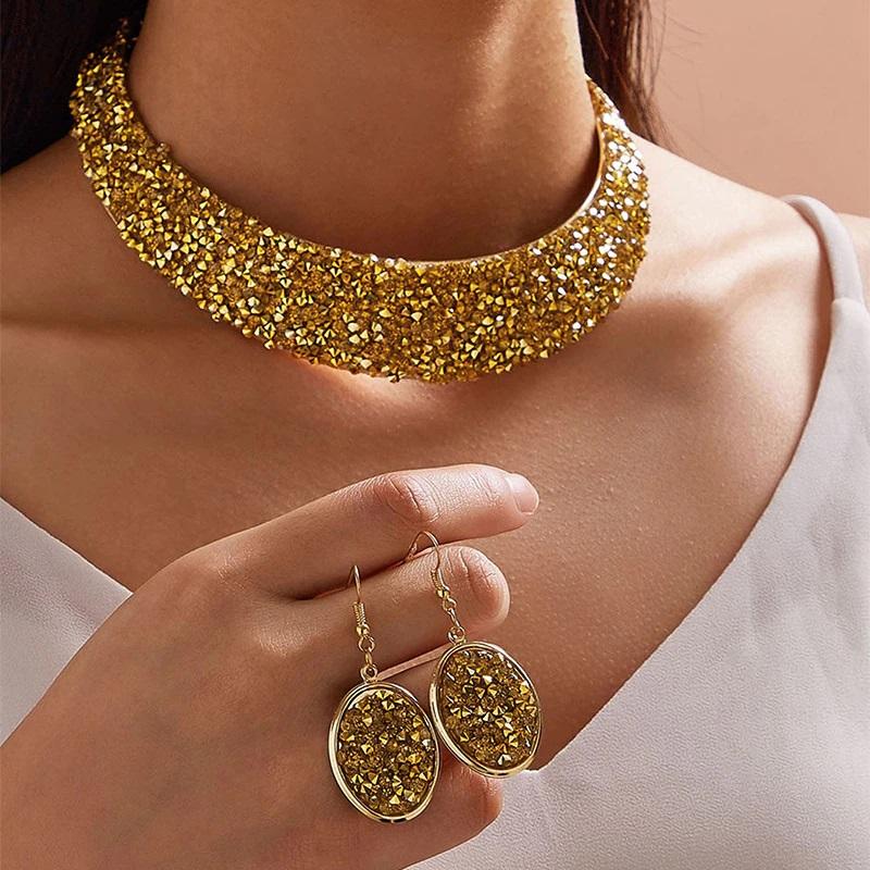 parure de bijoux en strass ethnique latine