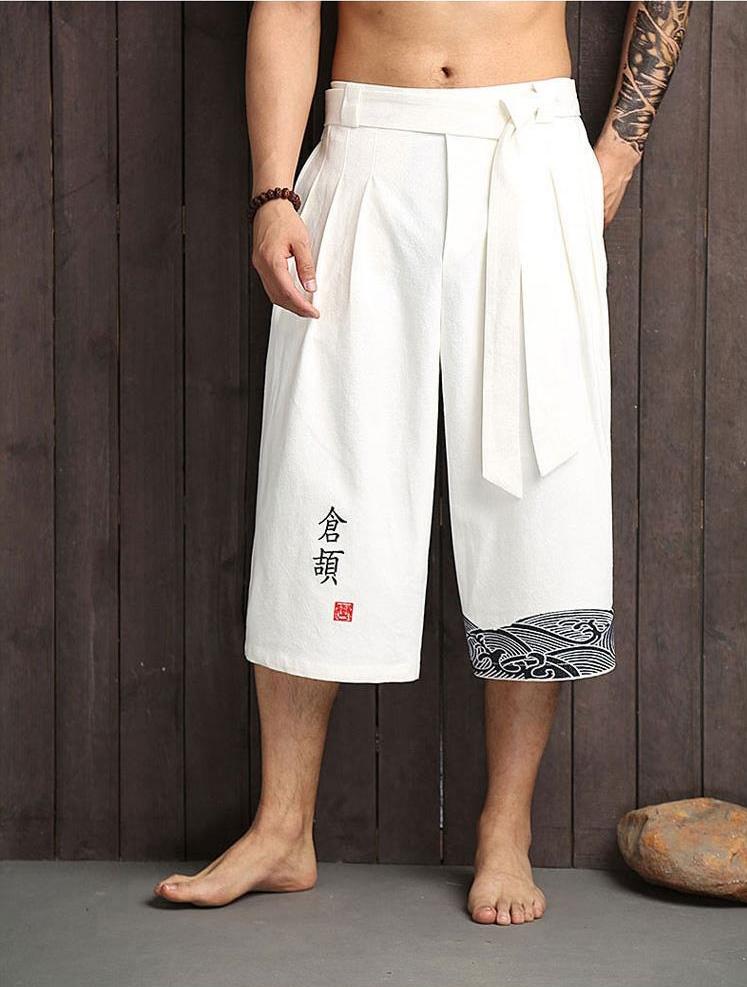 Pantalon traditionnel Japonais pantacourt