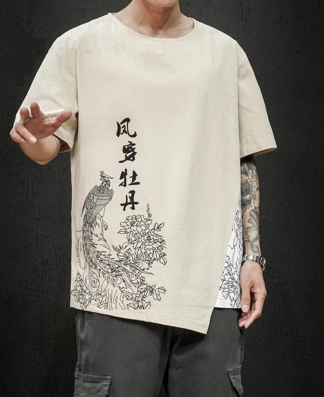 T-shirt demi manches style décontracté
