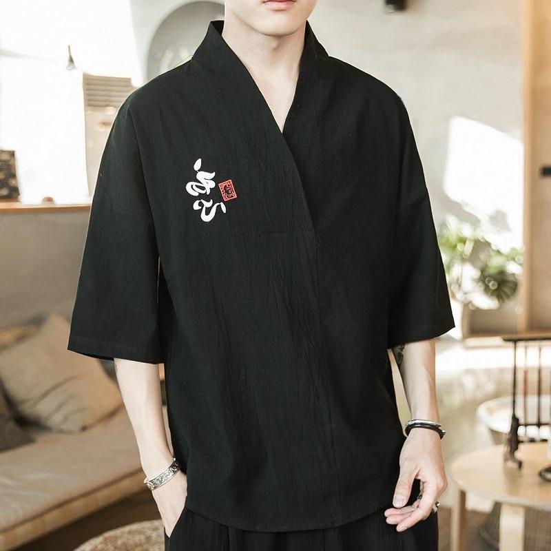 T-shirt brodé japonais