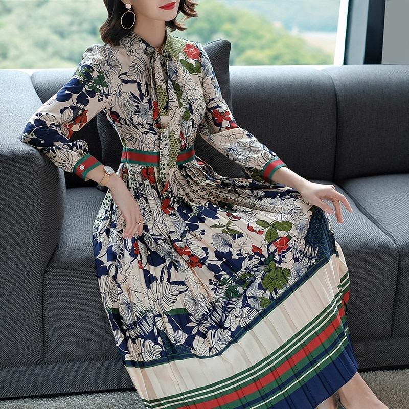 Robe vintage plissée