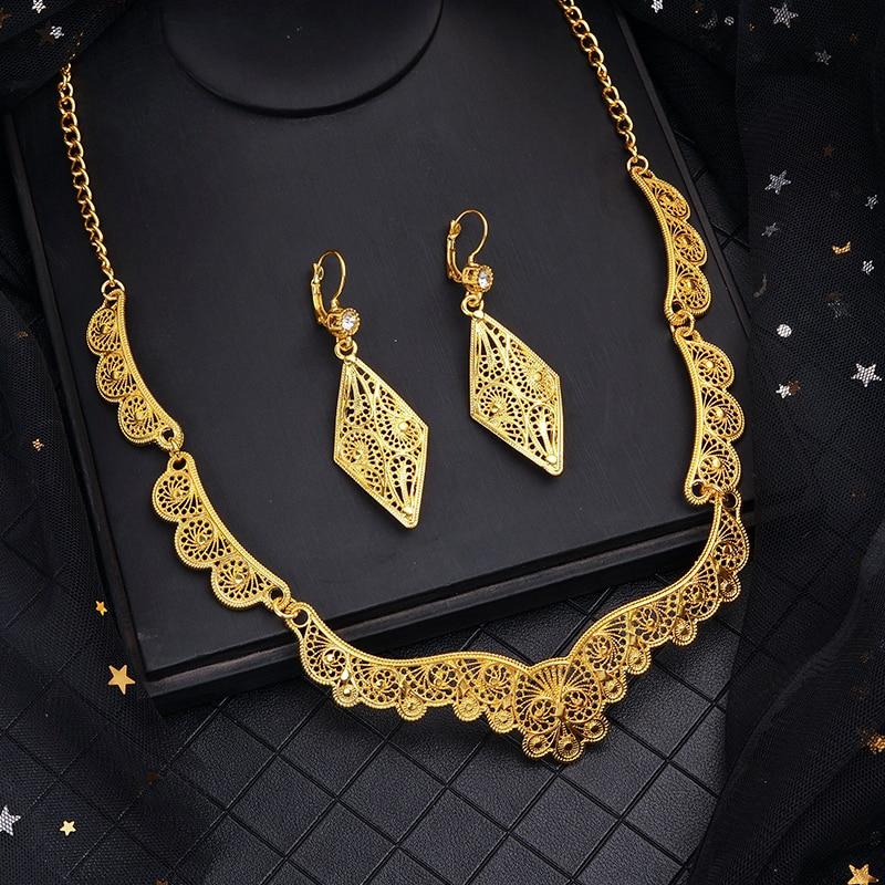 Parure de bijoux ajourée du Moyen-Orient