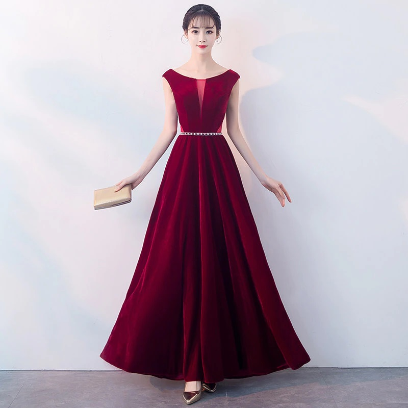 Robe luxe longue sans manches