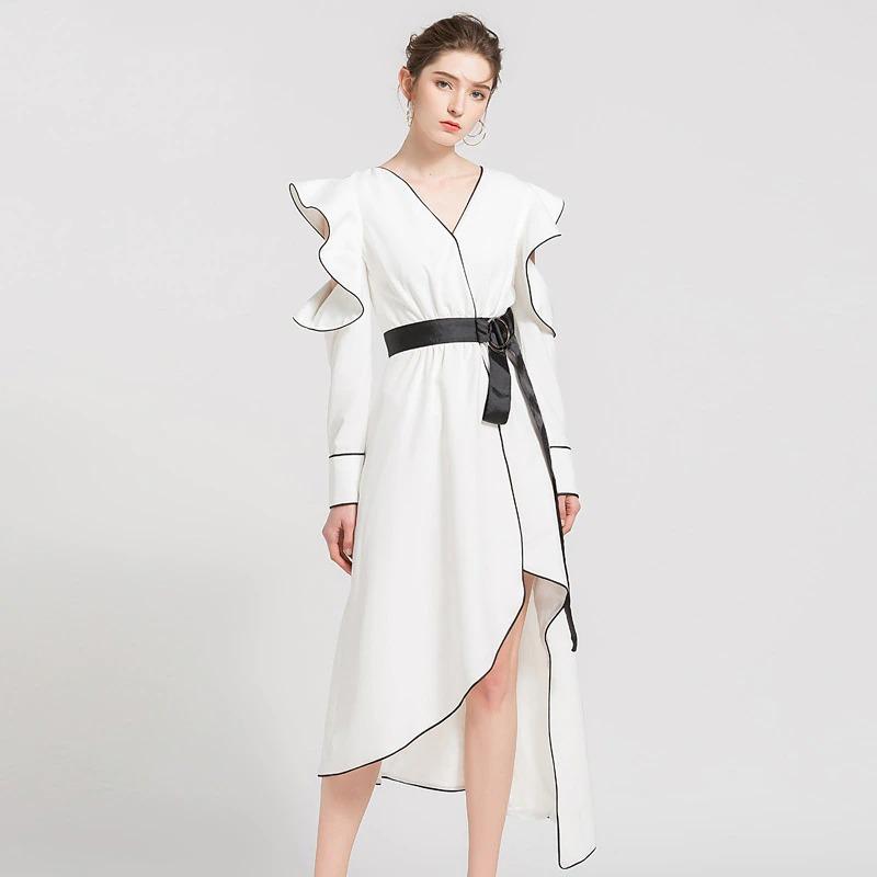 Pristini Robe asymétrique
