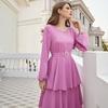 Robe rose de soirée