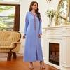 Robe longue bleu ciel femme