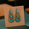 Vintage-indien-Jhumka-femmes-rouge-gland-boucles-d-oreilles-gitane-bijoux-boh-me-ethnique-fleur-sculpt