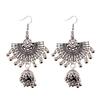 Boucles-d-oreilles-Vintage-ethnique-gitane-indiennes-pour-femmes-bijoux-Boho-r-tro-rond-pompon-cloche