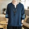 T-shirt-Kimono-japonais-manches-mi-longues-T-shirt-brod-japonais-Harajuku-Costume-homme-asiatique-Yukata