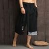 Kimono-japonais-pantalons-traditionnels-hommes-lin-pantacourt-v-tements-asiatiques-pantalon-de-bain-japon-Style-d