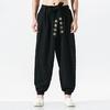 Pantalons-Kimono-japonais-d-contract-harajuku-pour-hommes-v-tements-traditionnels-asiatiques-Costume-de-Harem-brod