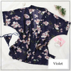 Kimono court mousseline soie