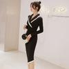 Robe asymétrique noir