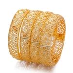 Nouveau-24K-4-pi-ces-lot-de-luxe-couleur-or-bracelets-pour-femmes-filles-thiopien-africain