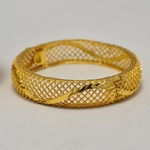 Bracelet jonc plaqué or 24 carats