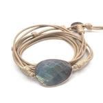 bracelet pierre de lune enroulé
