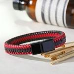 bracelet-en-cuir-tresse-rouge-pour-homme_main-1