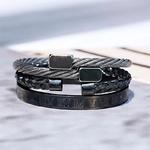 Bracelet noir homme