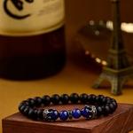 Bracelet perlle noir homme
