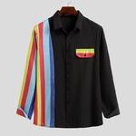 Chemise à rayure pour homme