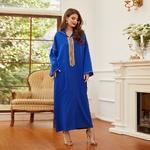 djellaba algerienne bleu femme