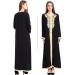 Robe noire caftan