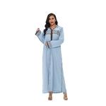 djellaba marocaine femme bleu