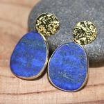 Boucles d oreilles  lapis lazuli