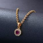 Colliers-ronds-de-couleur-rouge-et-or-pour-femmes-et-filles-cha-ne-avec-pendentif-cadeau