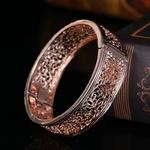 Bracelet manchette Or rose
