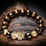 Nouvelles-perles-Bracelet-obsidienne-pierre-Bracelet-pour-hommes-femmes-10mm-Pixiu-Feng-Shui-richesse-bonne-chance