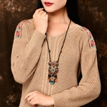 Collier-boh-me-pour-femmes-pendentif-Long-et-lourd-ethnique-bijoux-perles-Hyperbole-mode-livraison-directe