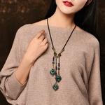 Collier-Long-g-om-trique-pour-femmes-pendentif-pompon-fait-la-main-chinois-accessoires-Bijoux-Vintage