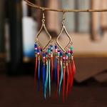 Hippie-femmes-g-om-trique-alliage-Long-gland-boucles-d-oreilles-boh-me-Boho-Bijoux-color