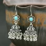 Boucles-d-oreilles-indiennes-style-Boho-motif-floral-ethnique-Jhumka-Vintage-cage-oiseaux-cloche-pendantes-bijoux