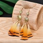 Boucles-d-oreilles-longues-en-plumes-Orange-pour-femmes-classiques-ethniques-fleur-en-or-pendantes-t