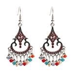 Femmes-Vintage-ethnique-sculpt-Jhumka-boucles-d-oreilles-indien-bijoux-tribu-boh-me-Corful-perles-gland