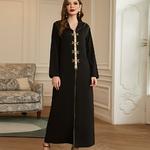 Ramadan-noir-Abayas-pour-les-femmes-turquie-Abaya-duba-Caftan-Caftan-marocain-Hijab-musulman-pri-re
